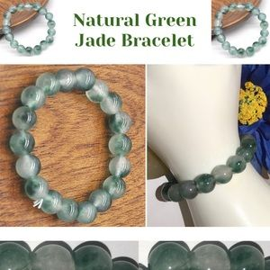 100% Grade A Natural Green Jade Beaded Bracelet